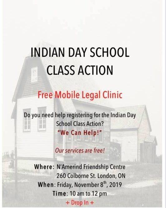 Mobile Legal Clinic flyer for November 8, 2019 session